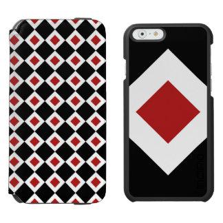 Teste padrão preto, branco, vermelho do diamante
