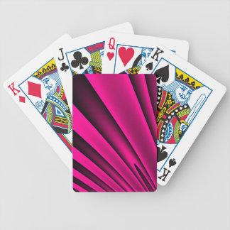Teste padrão preto cor-de-rosa fluorescente da baralhos