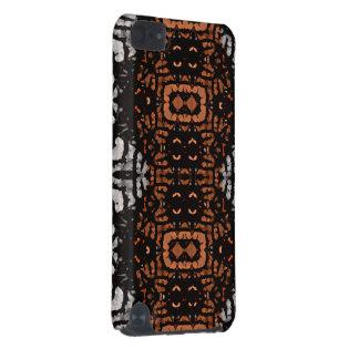 Teste padrão preto do abstrato do cinza de Brown Capa Para iPod Touch 5G