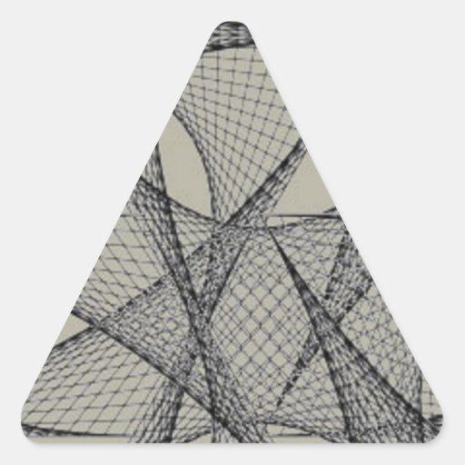 Teste padrão preto do laço adesivos em forma de triângulo