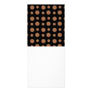Teste padrão preto dos biscoitos dos pedaços de ch 10.16 x 22.86cm panfleto