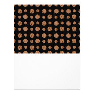 Teste padrão preto dos biscoitos dos pedaços de ch modelos de panfleto