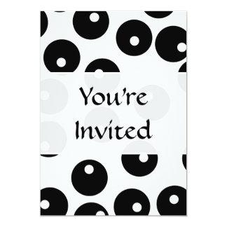 Teste padrão preto e branco à moda do convite 12.7 x 17.78cm