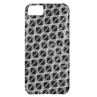 Teste padrão preto e branco afligido capa para iPhone 5C