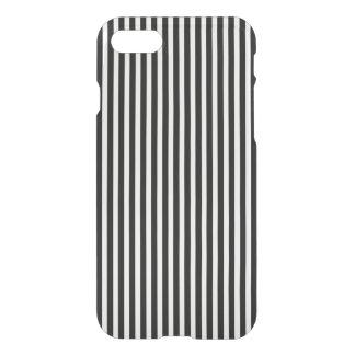 Teste padrão preto e branco da listra da cabana do capa iPhone 7