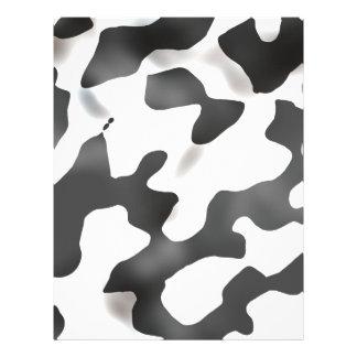 Teste padrão preto e branco da vaca do país panfleto personalizado