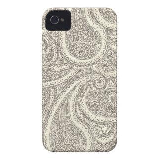 Teste padrão preto e branco de Paisley Capinhas iPhone 4