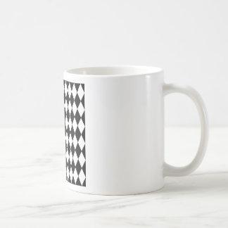 Teste padrão preto e branco do Harlequin Caneca De Café