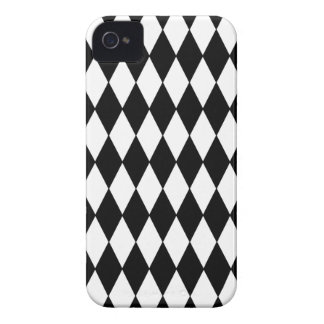 Teste padrão preto e branco do Harlequin do Capa Para iPhone