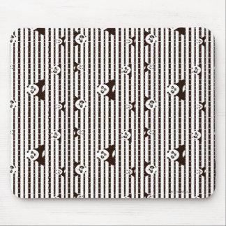 Teste padrão preto e branco do Po Mouse Pad