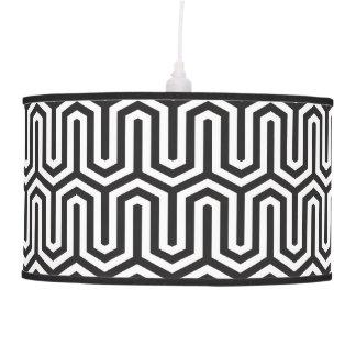 Teste padrão preto e branco egípcio decorativo