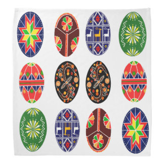 Teste padrão pysanky ucraniano dos ovos da páscoa pano para cabeça