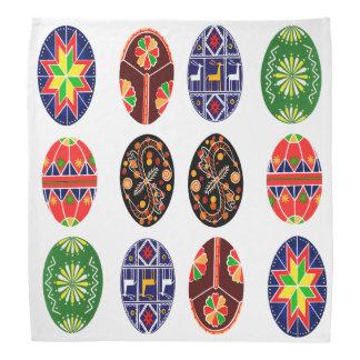 Teste padrão pysanky ucraniano dos ovos da páscoa panos para cabeça