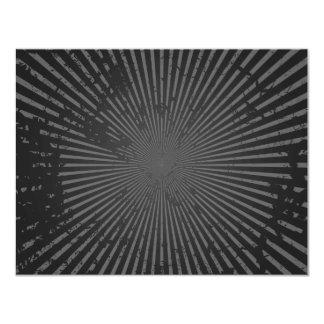 Teste padrão radial do Grunge: Modelo feito sob Convite 10.79 X 13.97cm