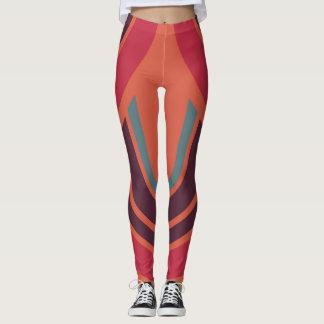 Teste padrão retro #3 do anos 50 da cor leggings
