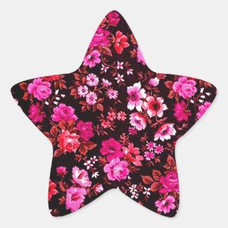 Teste padrão retro cor-de-rosa das margaridas adesito estrela