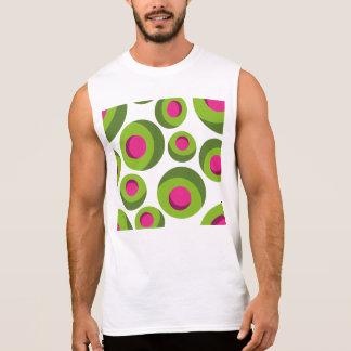 Teste padrão retro do hippie com pontos coloridos regata