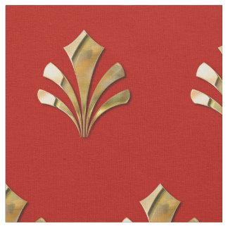 Teste padrão romano antigo do ouro com fundo tecido