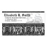 Teste padrão romântico do bordado medieval cartão de visita