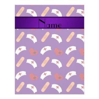 Teste padrão roxo conhecido personalizado da panfleto