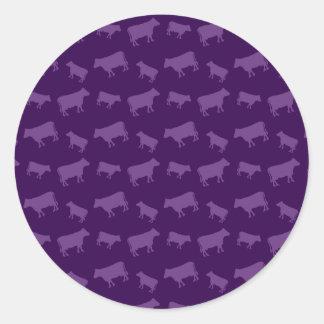 Teste padrão roxo da vaca adesivo
