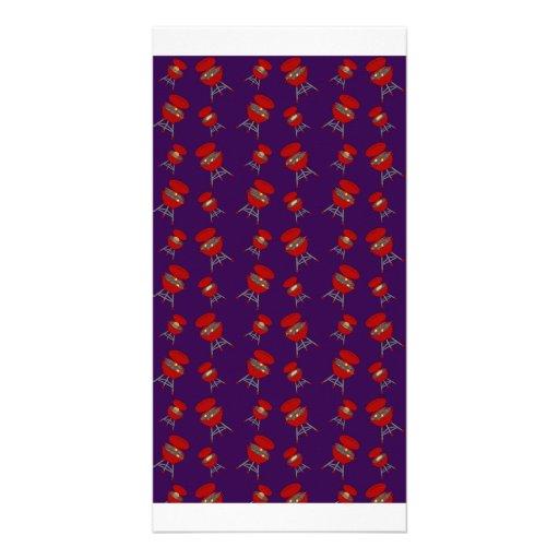 teste padrão roxo do assado cartao com fotos