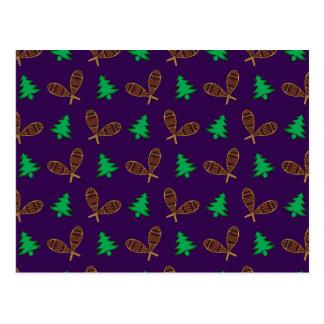 Teste padrão roxo do sapato de neve cartão postal