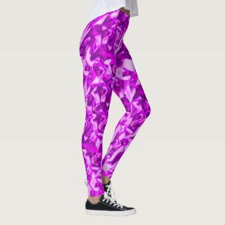 Teste padrão roxo do seixo leggings