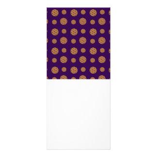 Teste padrão roxo dos biscoitos dos pedaços de cho 10.16 x 22.86cm panfleto