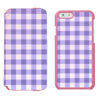 Teste padrão roxo e branco da verificação do capa carteira incipio watson™ para iPhone 6