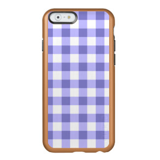 Teste padrão roxo e branco da verificação do capa incipio feather® shine para iPhone 6