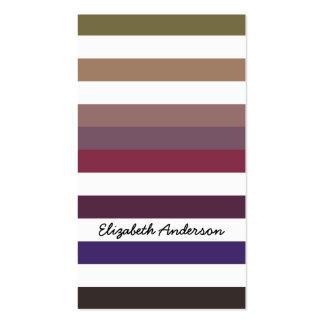 Teste padrão roxo e branco Variegated na moda das Modelos Cartões De Visita