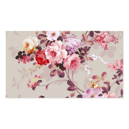 Teste padrão roxo rosa vermelha elegante dos rosas cartoes de visitas
