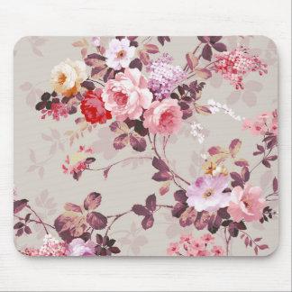 Teste padrão roxo rosa vermelha elegante dos rosas mousepad