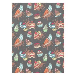 Teste padrão saboroso do cupcake do doodle toalha de mesa