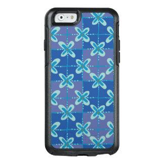 Teste padrão sem emenda do batik floral azul da
