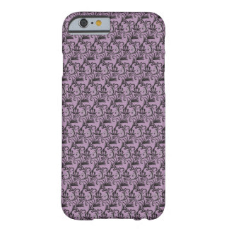 Teste padrão sem emenda preto (Lilac) - caso do Capa Barely There Para iPhone 6
