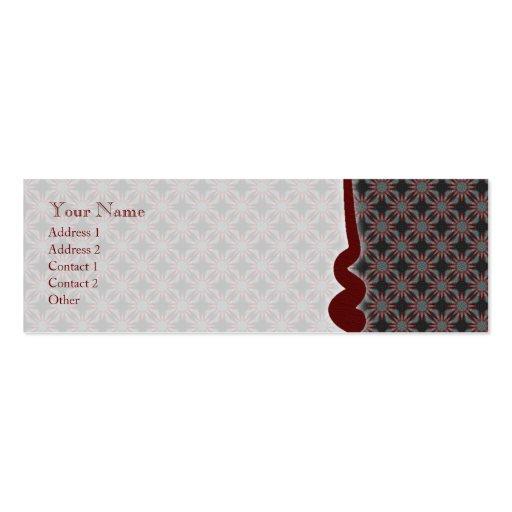 Teste padrão subtil da paixão • Cartão de visita d