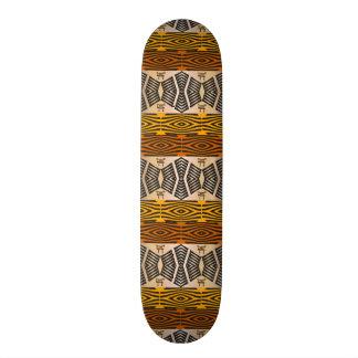 teste padrão tribal africano étnico shape de skate 18,1cm