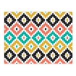 Teste padrão tribal asteca mexicano do diamante de cartão postal