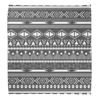 Teste padrão tribal asteca na moda legal bandanas
