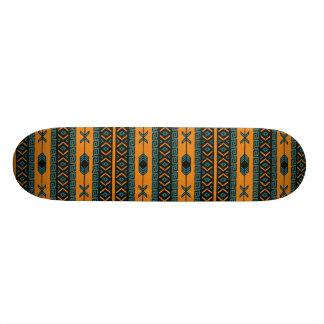 Teste padrão tribal da laranja e da cerceta shape de skate 21,6cm