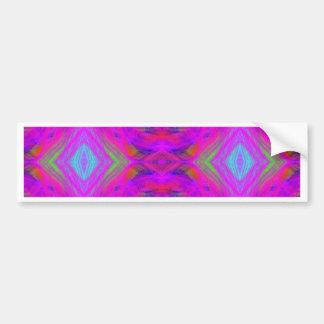 Teste padrão tribal de néon chique feminino adesivo de para-choque