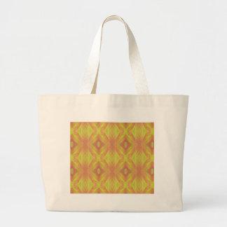Teste padrão tribal do pêssego amarelo brilhante sacola tote jumbo
