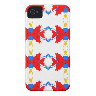 Teste padrão tribal dos meninos amarelos azuis capas para iPhone 4 Case-Mate