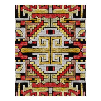 Teste padrão tribal/étnico de Geomethric Papel Timbrado