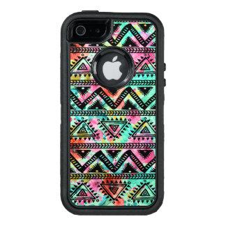 Teste padrão tribal geométrico colorido moderno