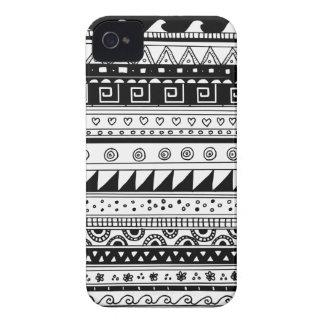 Teste padrão tribal preto e branco capinhas iPhone 4