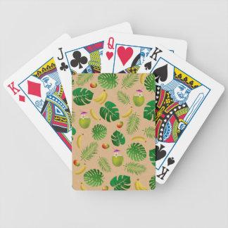 Teste padrão tropical baralho de poker