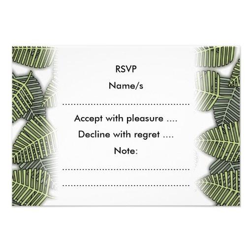 Teste padrão tropical da folha convite personalizado